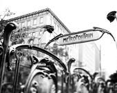 Metropolitain in black and white - 8x10 or 8x12 - Parisian feeling fine art photograph