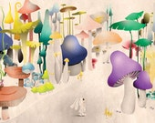 Bunny in Mushroom Land-Limited Edition Print