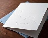 Snow Letterpressed Card