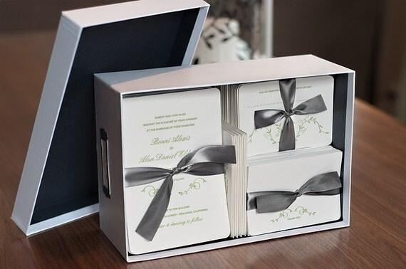 Spring Letterpress Wedding Invitation