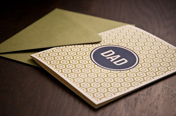 Dad Letterpressed Card