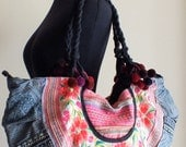Hmong Ethnic handmade bag vintage style work beautiful,Boho Bags, Bohemian Handbags, Unique Bag
