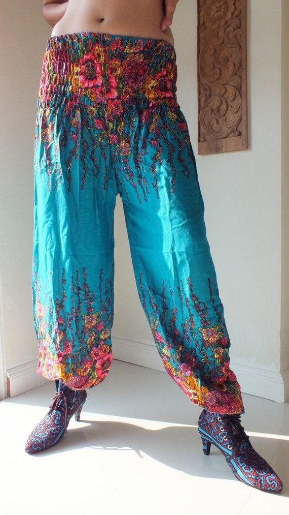 Lightweight cotton free size, trousers- Pant - Cotton Boho Baggy Trouser-Pant