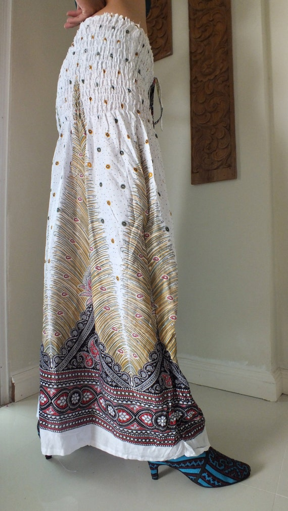 Cotton light weight dress or skirt, ethnic clothing- hippy  skirt ,free size
