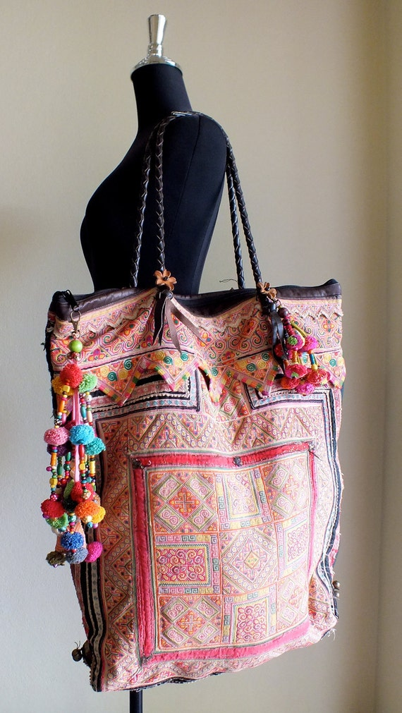 Ethnic bags,Boho tote Bags and purses, Bohemian Handbags, Unique Bag-from Thailand