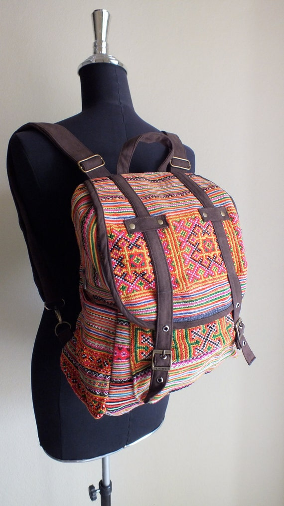 Hmong Ethnic handmade bags- vintage fabric bohemian and totes-from Thailand