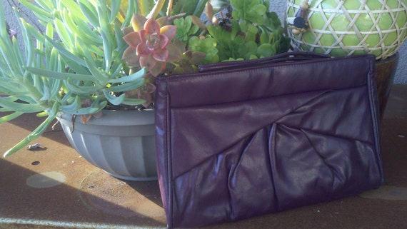 Vintage Bag Purple Reign Wristlet Clutch