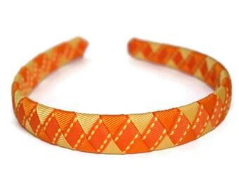 Orange Woven Headband