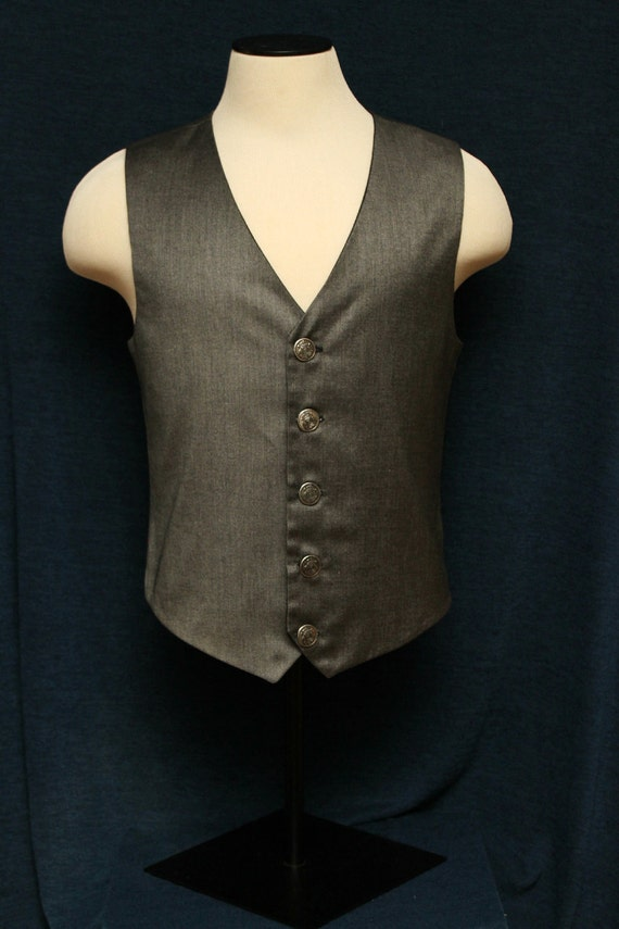STEAMPUNK/ Custom Made Mens Vest/ Available Chest Sizes 34-54 Inches