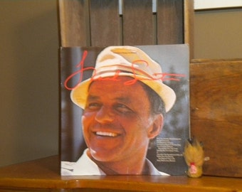 Old Blue Eyes Frank Sinatra Record and Cover