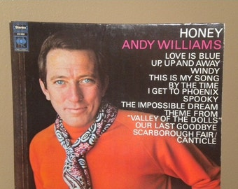 Honey Andy Williams Vintage Record and Cover