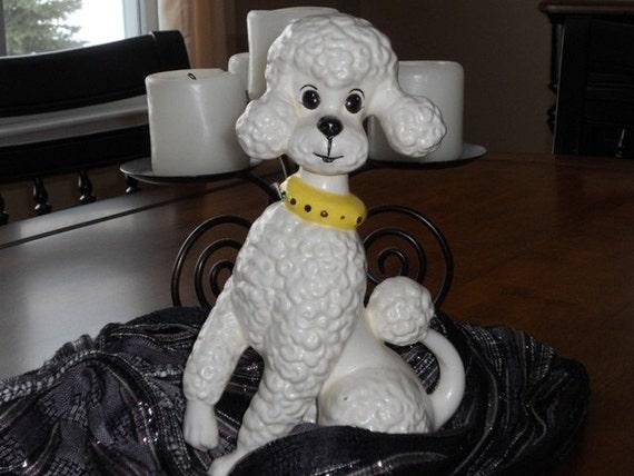 Vintage Porcelain Poodle