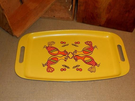 Yellow Retro Serving Tray