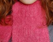 Vintage Pink Mohair Scarf