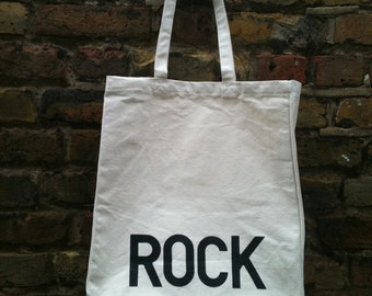 Rock Metal Tote Bag