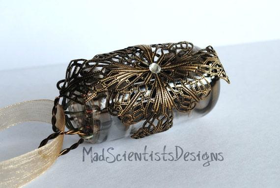 NeoVictorian Steampunk Splendor 013 Brass Filigree Ornament by MadScientistsDesigns