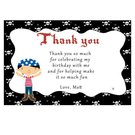 ... Thank you Card Notes - 1st 2nd 3rd 4th Birthday Baby Boy Shower Custom: etsy.com/listing/88184130/printable-personalized-pirate-thank-you