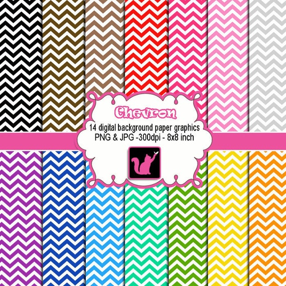 Chevron Clipart Zigzag Various Colors Printable by pinkthecat