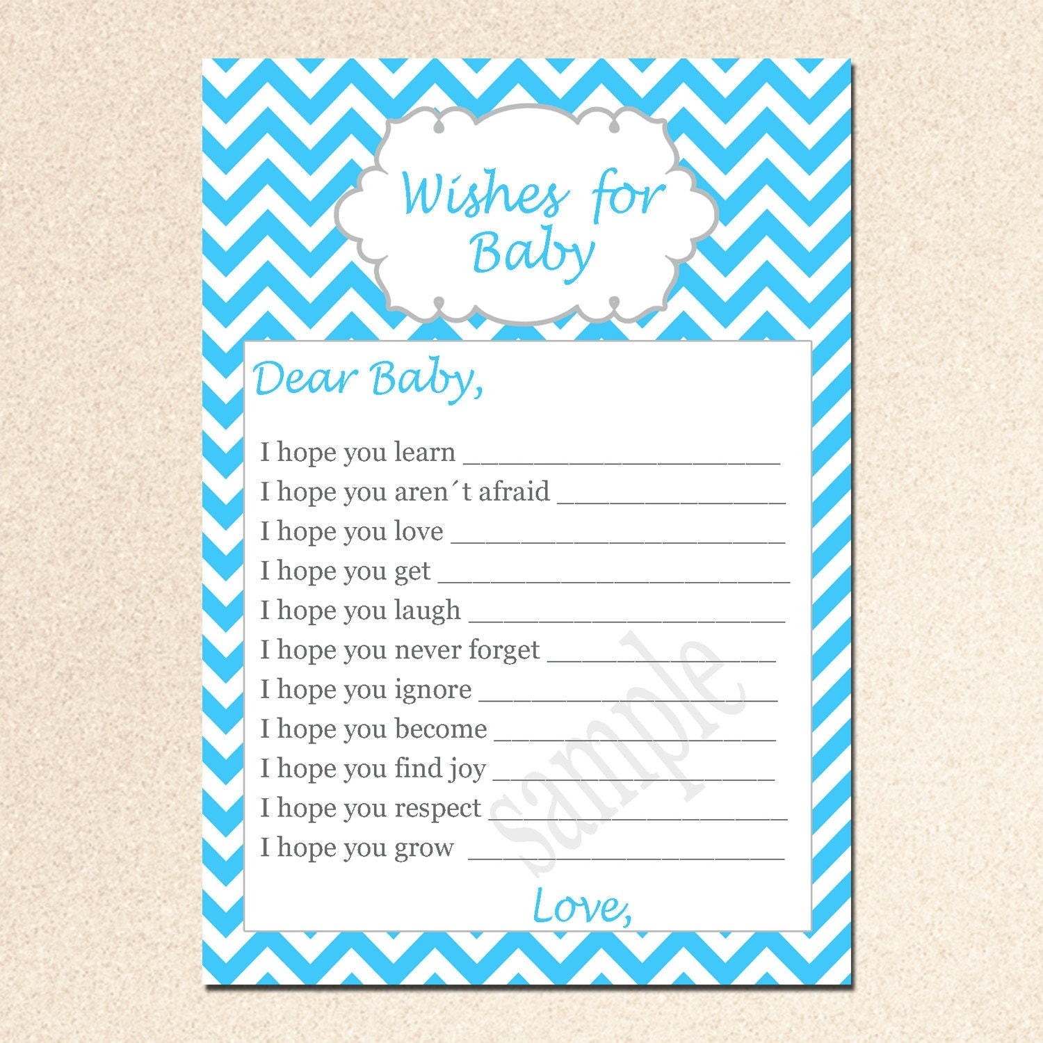 wishes for baby card new baby messages well wishes card aqua