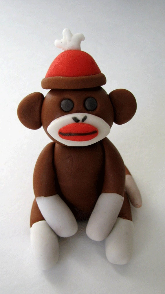 Edible Monkey Cake Decorations