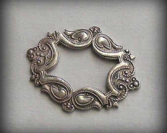 LuxeOrnaments Oxidized Sterling Silver Plated Frame 29x24mm (1 pc) X307X-VJS F-A7635