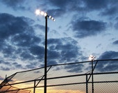 Baseball Lights at Sundown, Photo Print