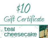 Gift Certificate for 10 Dollars