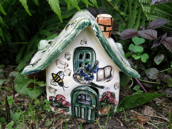 garden fairy cottage house upcycled