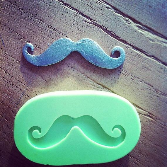 Moustache silicone mold, Mustache mould