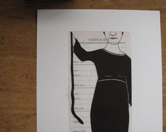 Woman Holding a Snake - Art Print