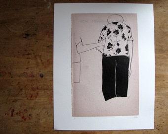 B - Art Print