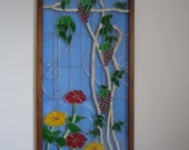 Stained Glass, Grapes, Vines,& Flowers