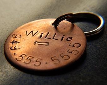 "Willie Custom Pet ID Tag, 1"" Copper"