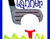 Golf design for Machine applique