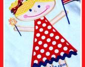 Fourth of July Princess Machine Applique Designs