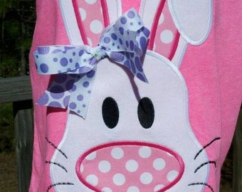 Funky Big Nosed Bunny Machine Applique Design