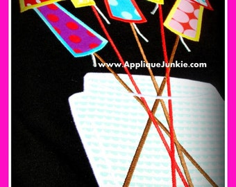 Fireworks Machine Applique Design