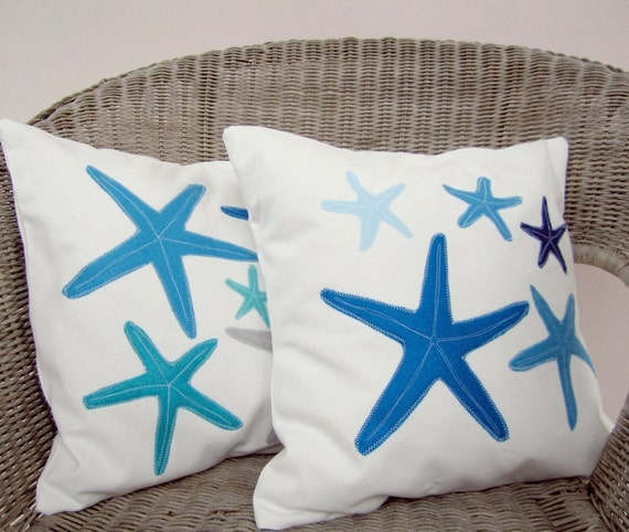 Beach House Decor Items: Items Similar To Beach Cottage Decor Pillows: Blue, Grey