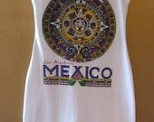 MEXICO aztec calendar restyle tank dress