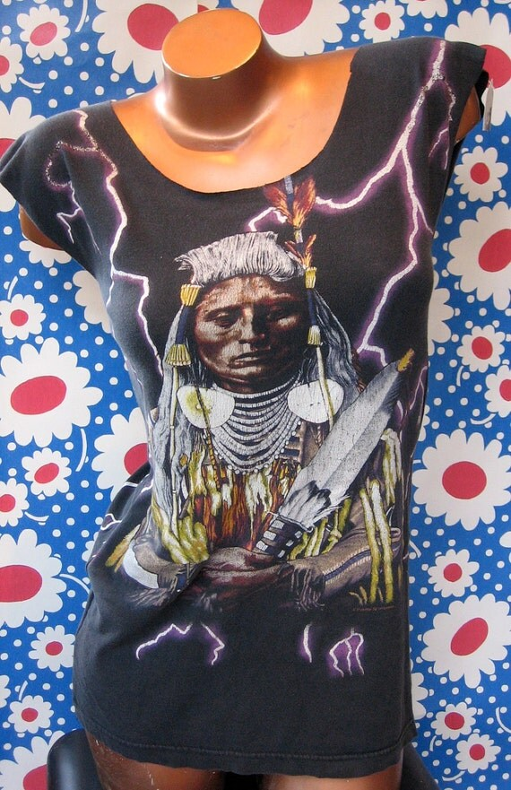 Amazing Indian Chief 2-sided Reshaped T-Shirt / Dress