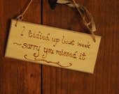 Custom or Personalised Personalized sign Housework Funny sign, rustic hanging wooden plaque engraved with pyrography