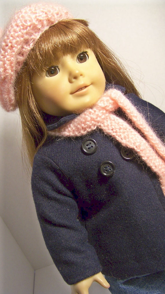 Wool Coat, Hat & Scarf, American Girl  Doll Clothes