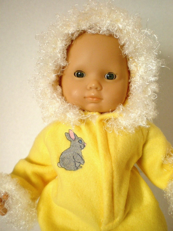 Bitty Baby Doll Clothes, Fleece  Pram Suit  with Hood