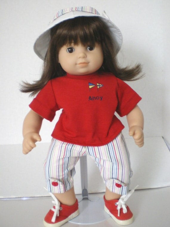 Nautical Outfit,  Hat,  Bitty Twin  Doll Clothes