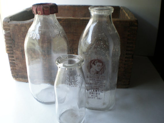 Really Nice Old Hood Milk Bottle with Cap