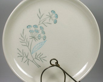 Royal Maytime Blue Flowers Bread Plate Set of 3 by Royal Stetson
