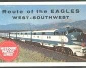 1959 Missouri Pacific Railroad Calendar Wallet Eagles Route