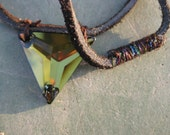 Crystal Triangle Necklace Kelp