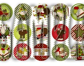 Ho-Ho Holidays Christmas Bottle Cap Images