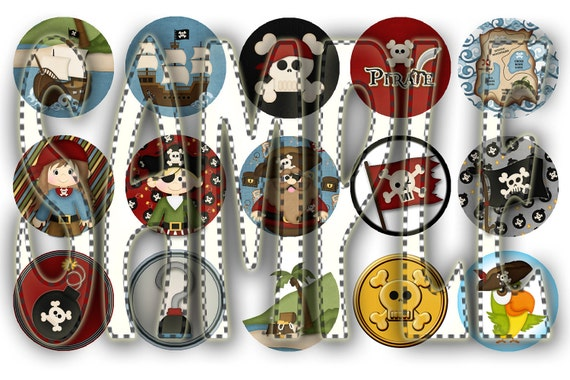 Pirate Themed Bottle Cap Images